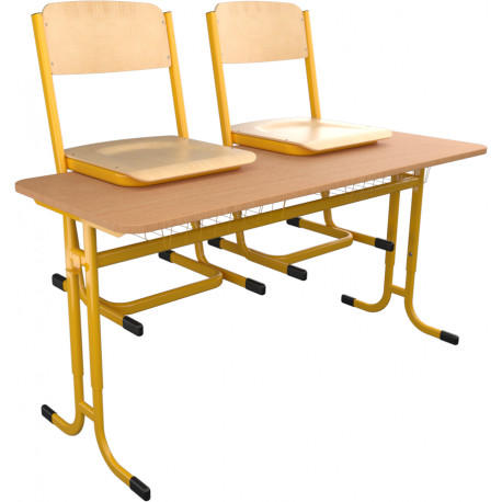 SKLADEM školní lavice a židle YGNÁC - vel. 3 - 5, žlutá