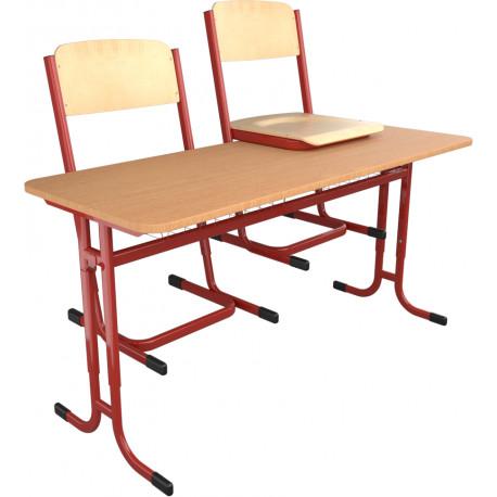 školní lavice a židle skladem YGNÁC - vel. 3 - 5, červená