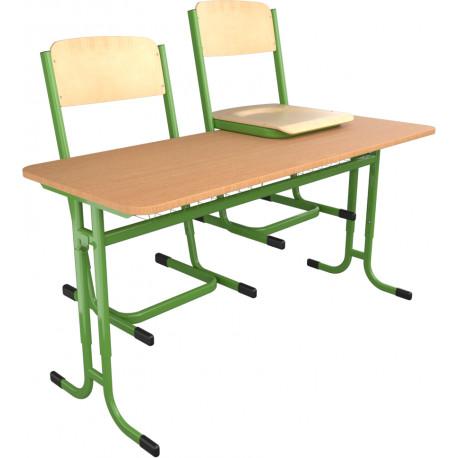 SKLADEM školní lavice a židle YGNÁC - vel. 5 - 7, zelená