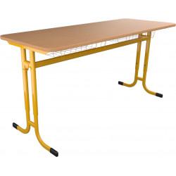 SKLADEM školní lavice YGNÁC - vel. 3 - 5, žlutá výškově nastavitelná