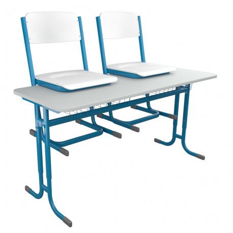 Sestava školní žákovské lavice a školních židlí YGNÁC - výškově stavitelná