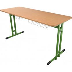 Montovaná školní lavice HUBERT dvoumístná, pevná výška