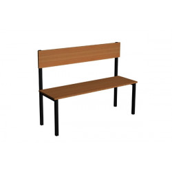 Šatní lavička EVA, lamino, s opěrkou