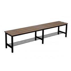 Prémiová šatní lavička BÁRA, bez opěrky, dřevo x LTD
