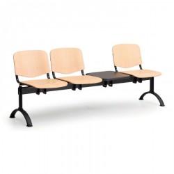 Dřevěná lavice ESO, 3x sedák + stolek