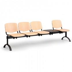 Dřevěná lavice ESO, 4x sedák + stolek
