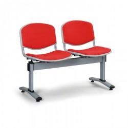 Čalouněná lavice LEVITO, 2x sedák, červená