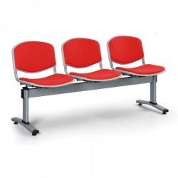Čalouněná lavice LEVITO, 3x sedák, červená