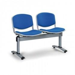 Čalouněná lavice LEVITO, 2x sedák, modrá