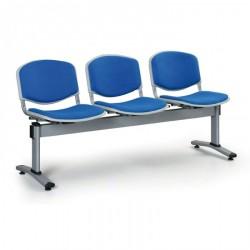 Čalouněná lavice LEVITO, 3x sedák, modrá