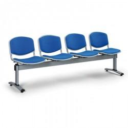 Čalouněná lavice LEVITO, 4x sedák, modrá