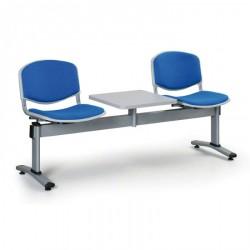 Čalouněná lavice LEVITO, 2x sedák + stolek, modrá