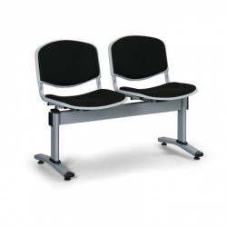Čalouněná lavice LEVITO, 2x sedák, černá