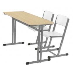 Školní žákovská sestava HUBERT PREMIUM+ dvoumístná, stavitelná - lavice + 2 x židle