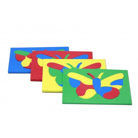 Pěnová vkládačka MOTÝLEK, sada 4 barev