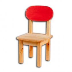 Dětská židlička SÁRA, červený opěrák