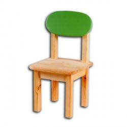 Dětská židlička SÁRA, zelený opěrák