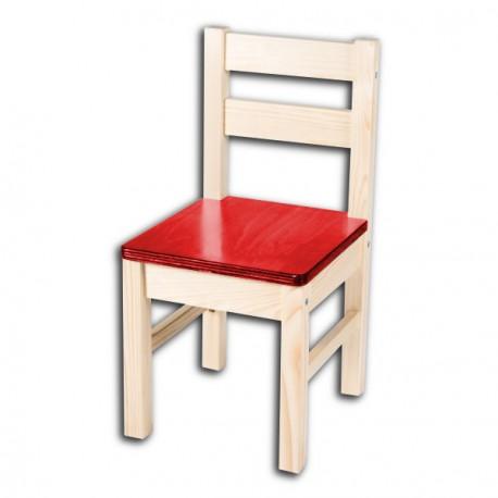 Dětská židlička TARA, červený opěrák