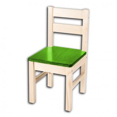 Dětská židlička TARA, zelený sedák