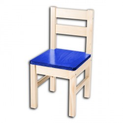 Dětská židlička TARA, modrý sedák