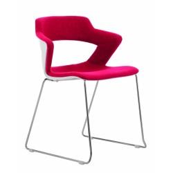 Jídelní židle GLORIA, čalouněný sedák a opěrák