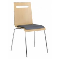 Jídelní židle ELZA, buková překližka, čalouněný sedák