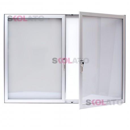 Dvoukřídlá vitrína, hloubka 40 cm