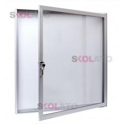 Jednokřídlá vitrína, oboustranná, hloubka 80 mm