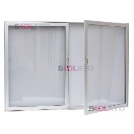 Dvoukřídlá vitrína, oboustranná, hloubka 80 mm