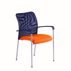 Jednací židle RITA, stříbrná konstrukce