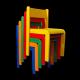 Dětská židlička LARA, celobarevná