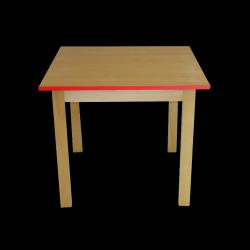 Dětský stoleček MATEO, čtverec, barevná hrana