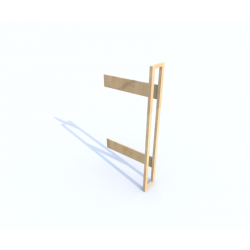 Přístavný regál - jednostranný