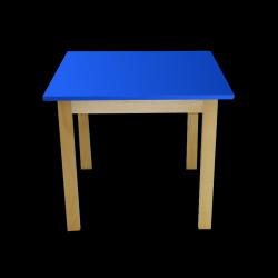 Dětský stoleček MATEO, čtverec, barevná deska
