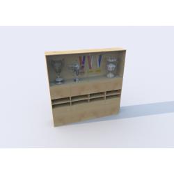 Skříň s vitrínou