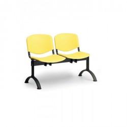 Plastová lavice do chodeb ASO, 2x sedák, žlutá