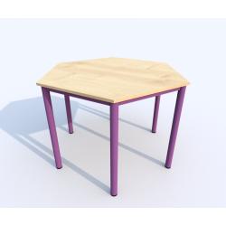 Stůl SIMONA, šestiúhelník, přírodní
