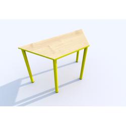 Stůl SIMONA, lichoběžník, s barevnou hranou