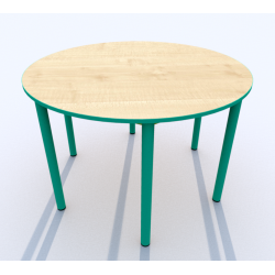 Stůl kruh SIMONA, s barevnou hranou