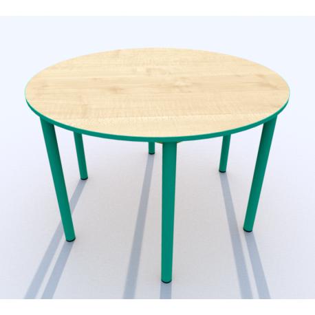 Stůl kruh SIMONA, přírodní