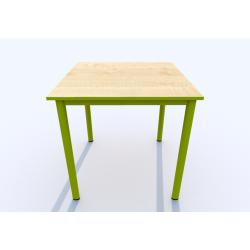Stůl SIMONA, čtverec, s barevnou hranou