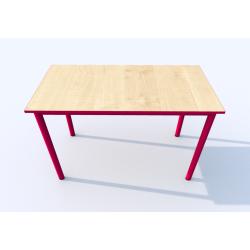 Stůl SIMONA, obdélník, s barevnou hranou