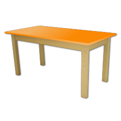 Dětský stoleček MATEO, obdélník, barevná deska