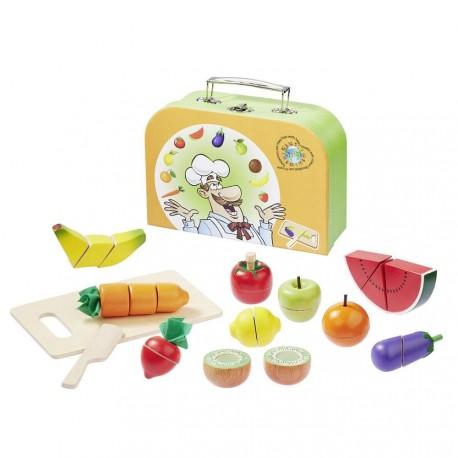 Set kufřík s ovocem a zeleninou