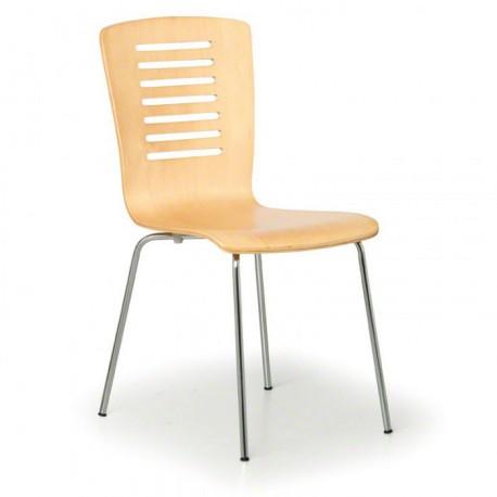 Jídelní židle BERI - přírodní, skořepinová