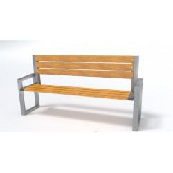 Kovová lavička Calista