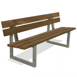 Kovová lavička Cajsa