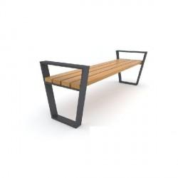 Kovová lavička Evan II