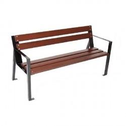 Kovová lavička Ebele