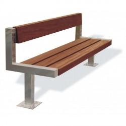 Kovová lavička Echo II